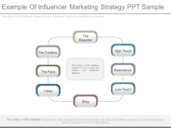 Example Of Influencer Marketing Strategy Ppt Sample