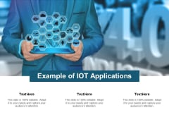 Example Of Iot Applications Ppt PowerPoint Presentation Ideas Visual Aids