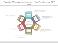 Example Of Leadership Assessment And Development Ppt Slides