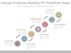 Example Of Lifecycle Marketing Ppt Powerpoint Design