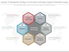 Example Of Management Strategy For Information Technology Diagram Presentation Images