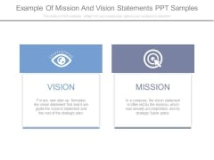 Example Of Mission And Vision Statements Ppt Samples