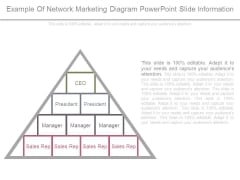 Example Of Network Marketing Diagram Powerpoint Slide Information