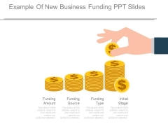 Example Of New Business Funding Ppt Slides