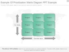 Example Of Prioritization Matrix Diagram Ppt Example