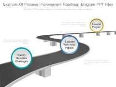 Example Of Process Improvement Roadmap Diagram Ppt Files