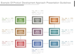 Example Of Product Development Approach Presentation Guidelines