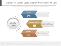 Example Of Quality Leads Diagram Presentation Images