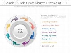 Example Of Sale Cycles Diagram Example Of Ppt