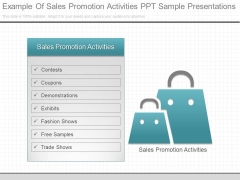 Example Of Sales Promotion Activities Ppt Sample Presentations