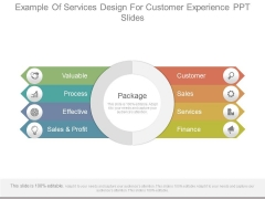 Example Of Services Design For Customer Experience Ppt Slides