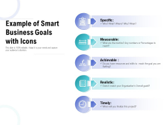 Example Of Smart Business Goals With Icons Ppt PowerPoint Presentation Layouts Graphic Images