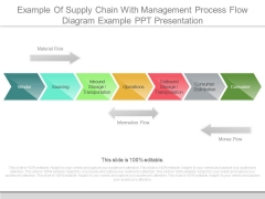 Example Of Supply Chain With Management Process Flow Diagram Example Ppt Presentation