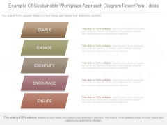 Example Of Sustainable Workplace Approach Diagram Powerpoint Ideas