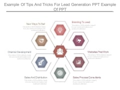 Example Of Tips And Tricks For Lead Generation Ppt Example Of Ppt
