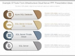 Example Of Tools From Infrastructure Cloud Server Ppt Presentation Ideas