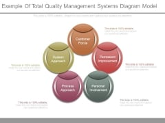 Example Of Total Quality Management Systems Diagram Model