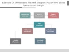 Example Of Wholesalers Network Diagram Powerpoint Slides Presentation Sample