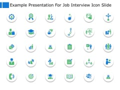 Example Presentation For Job Interview Icon Slide Business Ppt Powerpoint Presentation File Example File