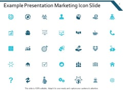 Example Presentation Marketing Icon Slide Ppt Powerpoint Presentation File Example Introduction