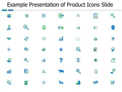 Example Presentation Of Product Icons Slide Ppt PowerPoint Presentation Professional Tips