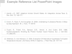 Example Reference List Powerpoint Images