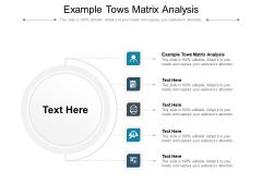 Example Tows Matrix Analysis Ppt PowerPoint Presentation Model Examples Cpb Pdf