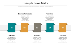 Example Tows Matrix Ppt PowerPoint Presentation Pictures Background Image Cpb