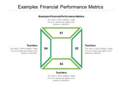 Examples Financial Performance Metrics Ppt PowerPoint Presentation Ideas Gridlines Cpb