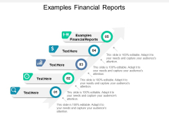 Examples Financial Reports Ppt PowerPoint Presentation Infographic Template Vector