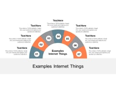 Examples Internet Things Ppt PowerPoint Presentation File Topics Cpb
