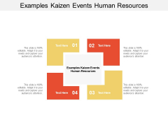 Examples Kaizen Events Human Resources Ppt PowerPoint Presentation Styles Grid Cpb