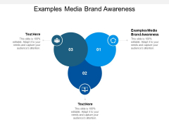 Examples Media Brand Awareness Ppt PowerPoint Presentation Icon Graphics Template Cpb