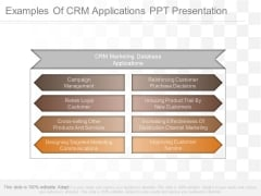 Examples Of Crm Applications Ppt Presentation
