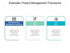 Examples Project Management Framework Ppt PowerPoint Presentation Pictures Templates Cpb