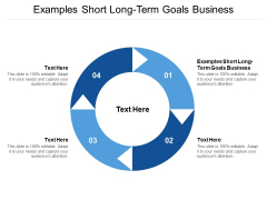 Examples Short Long Term Goals Business Ppt PowerPoint Presentation Portfolio Inspiration Cpb