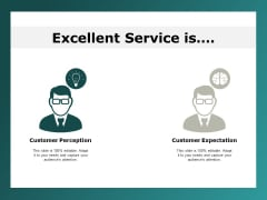 excellent service is customer expectation ppt powerpoint presentation pictures example file