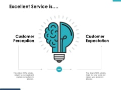 Excellent Service Is Customer Perception Ppt PowerPoint Presentation Gallery Slides