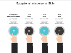 Exceptional Interpersonal Skills Ppt PowerPoint Presentation Outline Deck Cpb