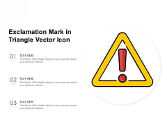 Exclamation Mark In Triangle Vector Icon Ppt PowerPoint Presentation Infographic Template Skills PDF