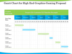 Exclusive Illustration Gaming Gantt Chart For High End Graphics Gaming Proposal Introduction PDF