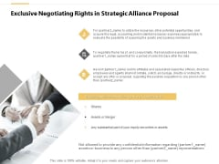 Exclusive Negotiating Rights In Strategic Alliance Proposal Ppt PowerPoint Presentation Infographics Designs Download