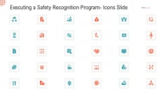 Executing A Safety Recognition Program Icons Slide Ppt Styles Skills PDF