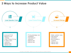 Executing Organization Commodity Strategy 3 Ways To Increase Product Value Brochure PDF
