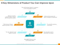 Executing Organization Commodity Strategy 8 Key Dimensions Of Product You Can Improve Upon Information PDF
