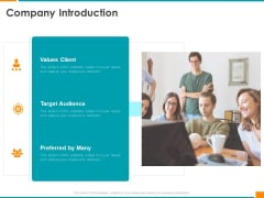 Executing Organization Commodity Strategy Company Introduction Clipart PDF