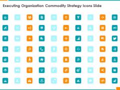 Executing Organization Commodity Strategy Icons Slide Demonstration PDF