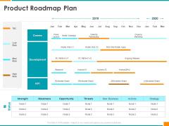 Executing Organization Commodity Strategy Product Roadmap Plan Slides PDF