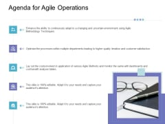 Executing Structured System Support Agenda For Agile Operations Slides PDF