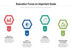 Execution Focus On Important Goals Ppt PowerPoint Presentation Gallery Maker PDF